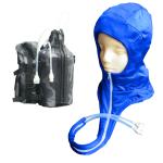 頭部冷却着衣フルフード水冷服(下着)人間エアコンCoolArmor CA2 typeG LightBlue+CS315(水循環ポーチ)セット